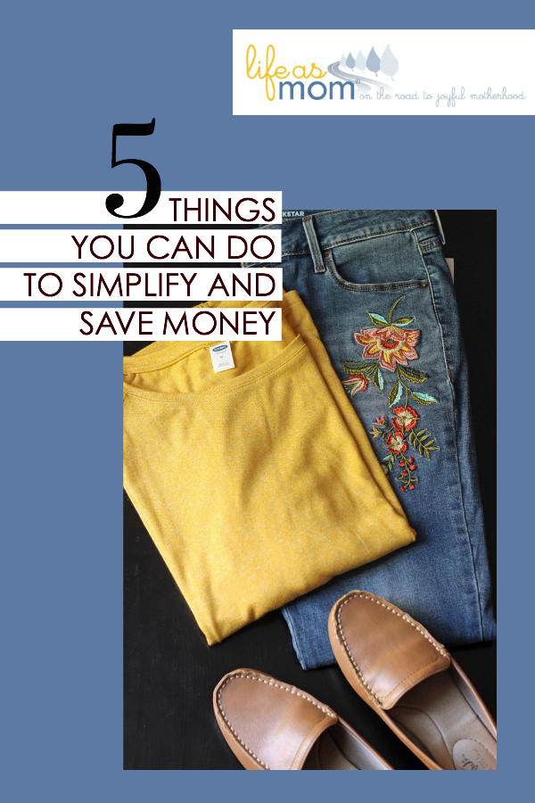 5 Ways to Simplify Your Life that Could Save You Money | Life as Mom
