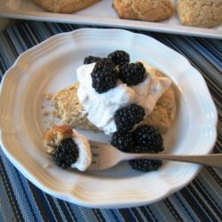 Whole Grain Shortcakes with Berries & Cream (URS: Easter)