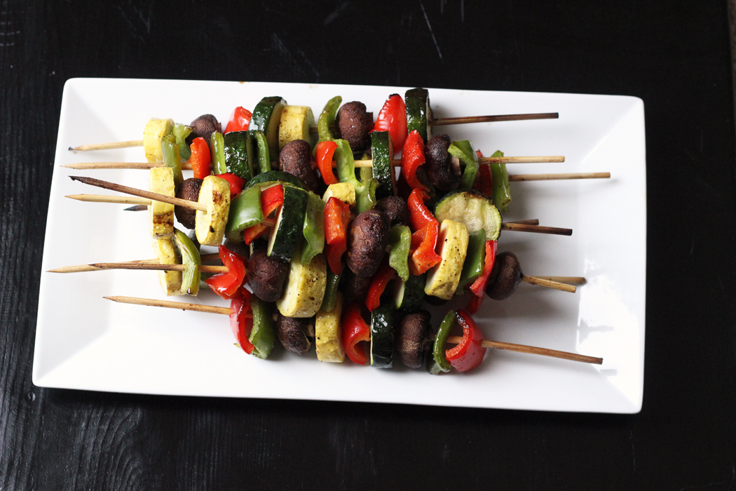 Grilled Vegetable Kabobs | Life as Mom