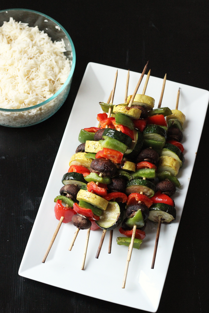 Grilled Vegetable Kabobs - Easy on the Summer Cook
