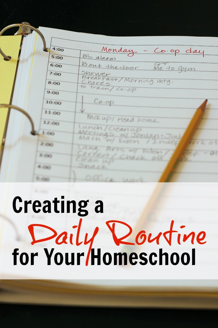 Creating a Daily Routine for Your Homeschool Life as Mom