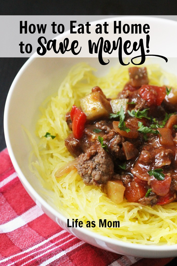 a bowl of spaghetti squash and meat sauce