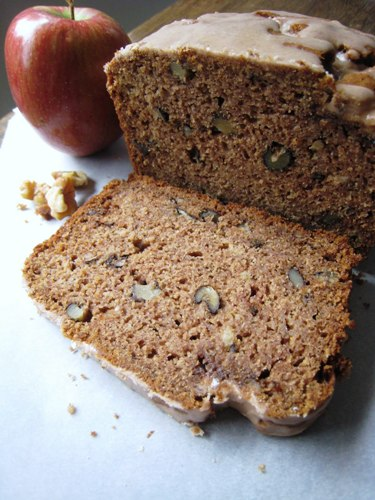 slice of applesauce walnut bread