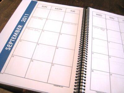 notebook calendar