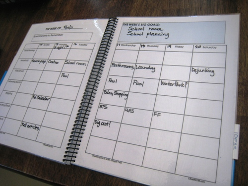 notebook weekly