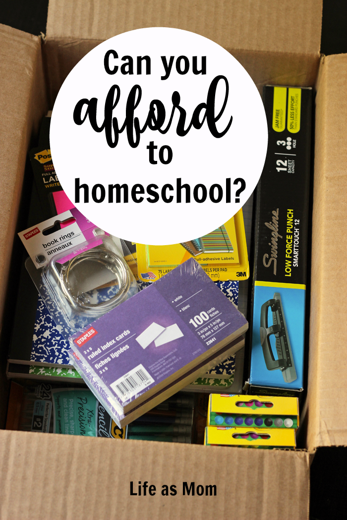 Can You Afford to Homeschool or Not? Life as Mom