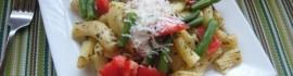 Tomato Green Bean Basil Pasta
