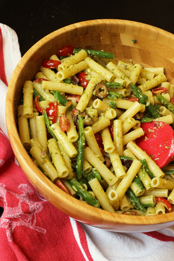 A bowl of Pasta and Pesto