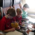 boys on airplane ride