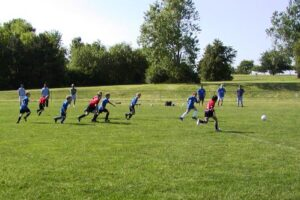 soccer teams on field