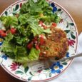 veggie patty and salad