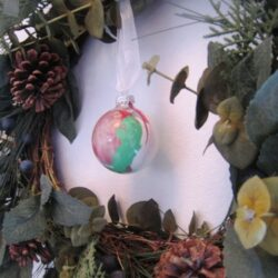 Make These Easy Painted Glass Globe Ornaments with the Kids (12 Days of Christmas Family Fun)