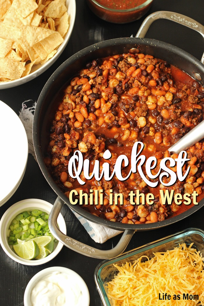 Quickest Chili in the West | Life as Mom