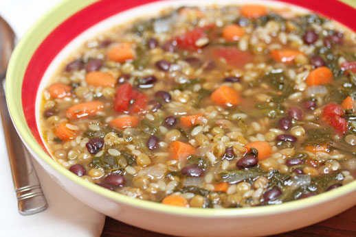 Lentil Minestrone Soup (URS: One Dish Dinners)