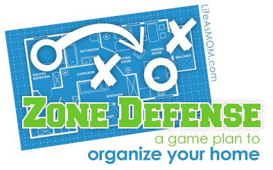 Time to Get on Zone Defense - it's a game plan for organizing your home, room by room, to suit you in your current season of life.