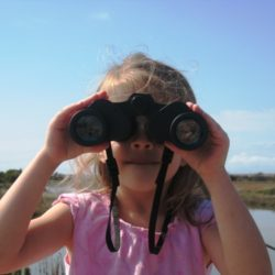 bird watcher girl