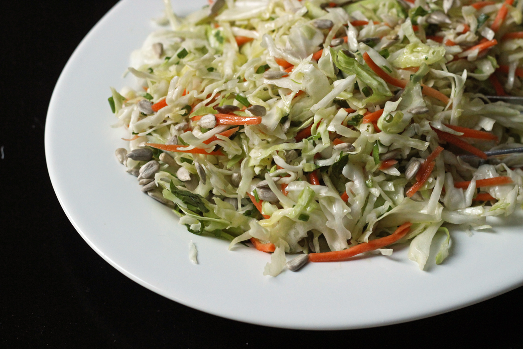 plate of simple coleslaw