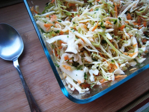 dish of Coleslaw