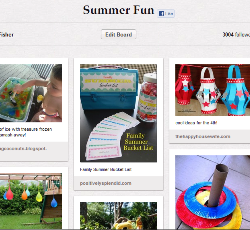 Finding Summer Fun on Pinterest
