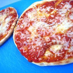 grilled pepperoni pizzas
