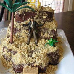 indiana jones temple cake