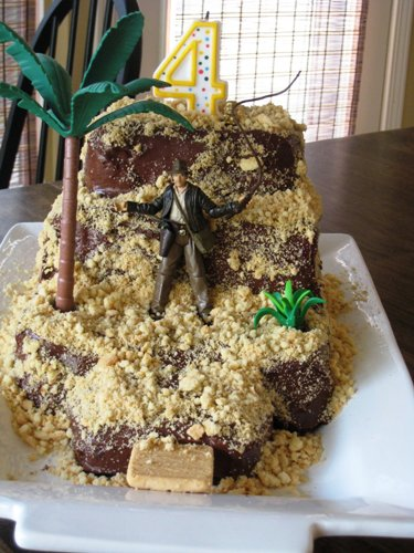 indiana jones temple cake