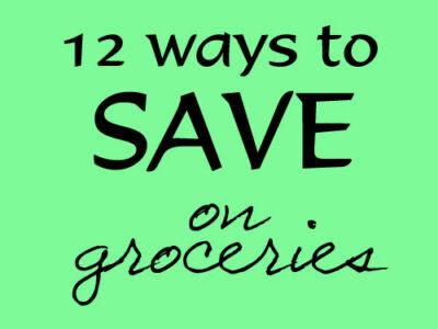 12 Ways on groceries