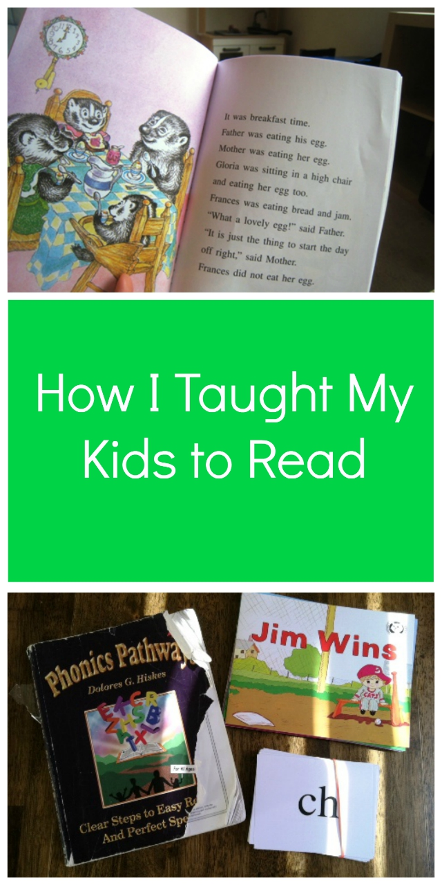 How I Taught My Kids to Read