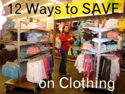 12 Ways to Save on Clothing