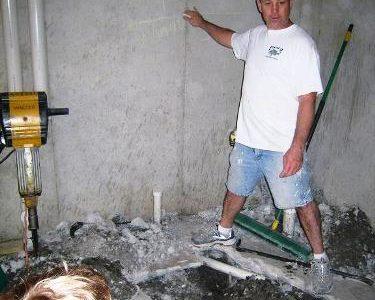 concrete basement