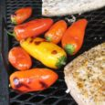 grilled peppers on the grill