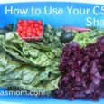 how to use your csa share