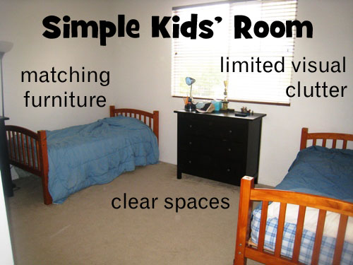 clean and simple kids' rooms (zone defense: kid stuff)