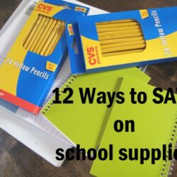 12 Ways to Save on School Stuff
