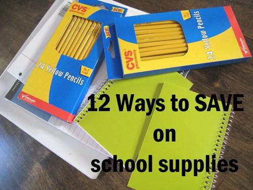 12 Ways to Save on School Stuff