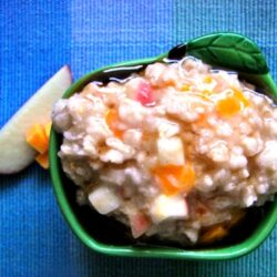 Cheddar Apple Oatmeal