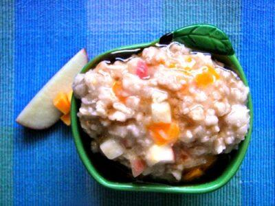 Cheddar Apple Oatmeal