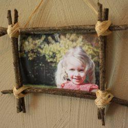 diy, craft, fall, sticks, photo frame