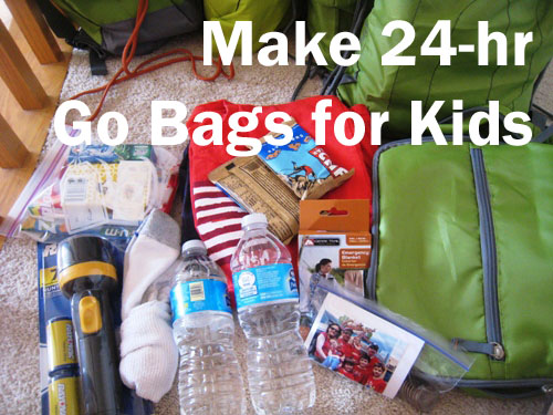 Make 24 Hour Go Bags For Your Kids