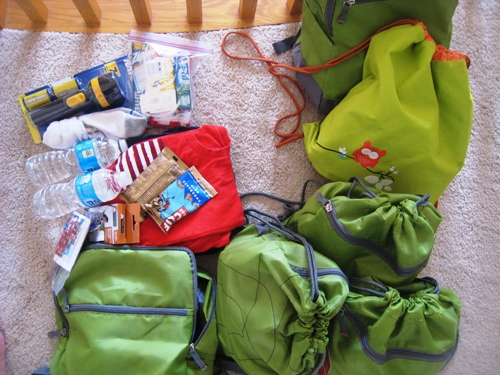 go bags for six kids