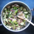 summer vegetable saute with mushrooms