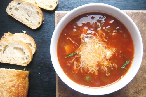 Vegetable - Beef Minestrone Soup (Ultimate Recipe Swap: Soups)