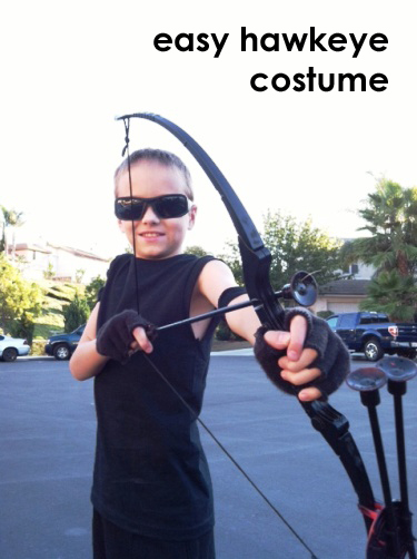 Easy Hawkeye Costume | Life as MOM  sc 1 st  Life As Mom & Last Minute Costume Idea: Hawkeye from the Avengers