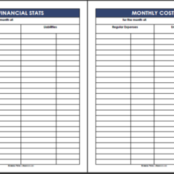 Keep Track of Financial Stats and Monthly Costs