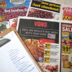 grocery ads and list