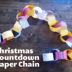 Christmas Countdown Paper Chain printable