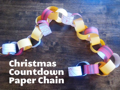 Different Ways to Countdown to Christmas (Plus a FREE printable for Christmas Activity Chain)