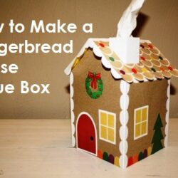 how to make a gingerbread house tissue box