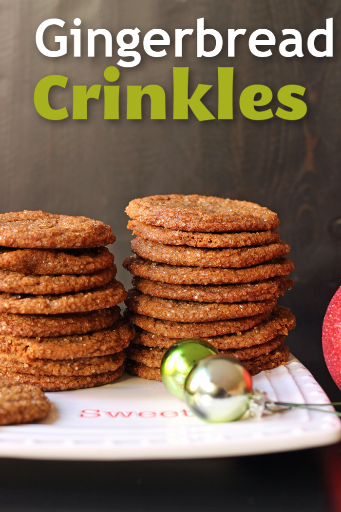 Gingerbread Crinkles | a recipe from Jessica Fisher