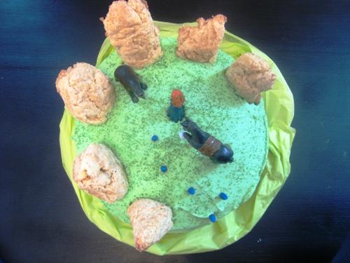Celebrating with Merida & a Brave Inspired Birthday Cake